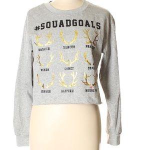 Freeze grey squad goals reindeer sweatshirt